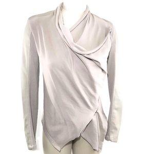 Blank NYC Womens Jacket Wrap Asymmetric Drape Moto